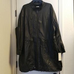 Sejour Nordstrom black utility style rain jacket